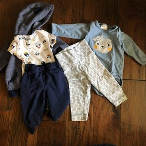 Carter and H&M 3-6 month Baby Boy Outfits